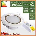 Recessed LED Ceiling Spot Down Light,9W Warm/Day WHITE Downlight Cabinet Lamp