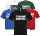 Warning Grumpy Old Git Funny T Shirt Comedy Fathers Day Gift Skull Tee S-XXL
