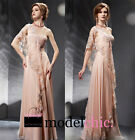 Pink One Shoulder Lace Evening Prom Bridesmaid Ball Wedding Gown Maxi Dress
