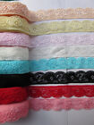 DIY! Beautiful 5 / 10 / 20 / 50 yard stretch lace, color selection free shipping