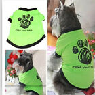 "Summer Pet Puppy Cat Clothes Vest T Shirt Apparel Clothes ""make your mark"" B1"