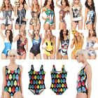 Sexy Lady Costume Printing One-Piece Monokini Bikini Swimsuit Swimwear Beachwear