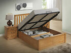 NEW 4'6ft DOUBLE SOLID WOODEN OTTOMAN UNDER STORAGE BED + MATTRESS