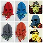 Man Women Winter Knitted Wool Ski Face Mask Knit Octopus Hat Squid Cap Beanie