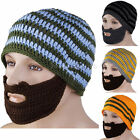 Men Winter Knitted Wool Ski Face Mask Knit Beard Moustache Hat Cap Beanie Warmer