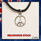 Peace Sign Pendant Charm Necklace Choker Charm with Cord