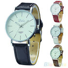 WOMEN COOL FAVORITE CLASSIC LEATHER BAND ROUND DIAL ANALOG QUARTZ WRIST WATCH