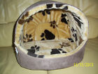 Igloo bed for dog / cat. Suede+faux fur lining, luxury, small-medium