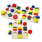 Learning Toys Wooded Geometric Puzzle Kids Educational IQ Develop Age 2 Years