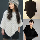 Low-cost Warm Rex Farms Rabbit Fur Wrap Shawl Cape Poncho Scarf Outwear Pretty