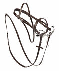 "NEW LOVELY HUNTER BRIDLE 1 1/8"" NOSEBAND - BY THELLIE - INC. LACED REINS - BROWN"