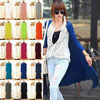 New Sexy Womens Long Sleeve Cardigan Knitwear Sweater Coat Long Wraps Outwear F