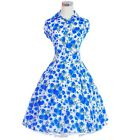 Vintage Tea Dress 50s 60s Dancing Party Prom Rockabilly Swing Jive Spotted Skirt