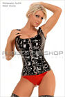 Shiny PVC Buckled Front Corset Basque Top