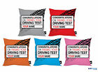 "PERSONALISED PASSING DRIVING TEST 18"" CUSHION 5 COLOURS AVAILABLE IDEAL GIFT"