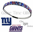 NWT New York Giants Team Color Womens Bling Rhinestone Headbands Cute w/ Jersey
