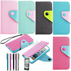 Luxury Flip Leather Credit Wallet Pouch Hard Case Cover For iPhone 4 4S 5 5S 5C