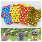 Puppy Small Dog Cat Pet Warm Point Coat Sweater Hoodies Winter Clothes 4 Color