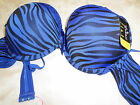 Womens Youth Teens Size 40 D Zebra Print 6 Colors Underwire Lacy Bow Bra NWT