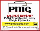 50 PMG P-724 ULTRA SHARP Special Heavy Weight Fly-Hooks