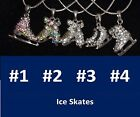 "Ice Skate Necklaces 16"" rhinestones, many choices BUY 3/1 FREE in USA Ship Free"