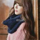 Wool Blend Men Women Cowl Neck Scarf Knitted Knitted Neck Snood Scarf B5UT