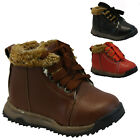 BOYS WINTER ZIP BOOTS BABIES PARTY TODDLERS WARM FUR ANKLE INFANTS SHOES SIZE