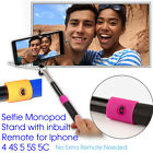 Extendable Selfie Handheld Stick Monopod with Inbuilt Remote For iPhone 5 6 HTC