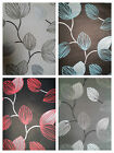 New Designer Feature Wall Wallpaper Black Grey Silver & Cream Teal Red Leaf X