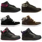 LADIES WOMENS GIRLS FUR ANKLE HI TOPS GYM JOGGING DANCE RUNNING CASUAL TRAINERS