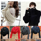 Women Long Knit Crochet Winter Warm Scarf With Sleeve Sweater Scarves Shawl Wrap