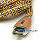 Eurocable24® GoldLine Gold HDMI Nylongeflecht SatelitenTV Digital Plus LED