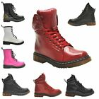 NEW WOMENS LADIES ANKLE LACE UP MILITARY COMBAT PUNK DOC GOTH RETRO BOOTS SHOES