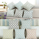 "17""X17"" Diamonds Trellis Geometric Embroidered Cushion Cover Pillows Shells Home"