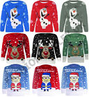 WOMENS NOVELTY RUDOLPH OLAF FROZEN MINION SANTA CHRISTMAS SWEATER JUMPER TOP