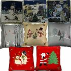"Christmas Cushion Covers Tapestry Traditional Modern Satin  40 X 40cm 16"" x 16"""