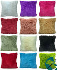 super soft faux fur cushions + covers or covers only in 8 lovely colours