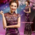 FZ071 Purple Chinese's Cheongsam Formal Evening Prom Party Dress Ball Gown Gift