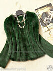 New!!100% Real Genuine Knitted Mink Fur Coat Jacket Outwear Sweater Vintage