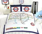 Rapport Multi London Underground Route Map Fully Reversible Duvet set S/D/K