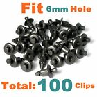 100+pcs+Clips+Fairing+Fender+Rivet+6mm+Clip+For+Cycle+Motorcycle+ATV+Sportbike