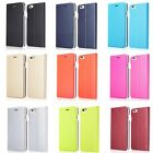 "New Thin Leather Hard Back Case Cover Wallet Card  For iPhone 6 4.7"" Plus 5.5"""