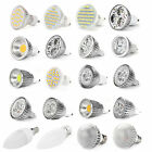 4 x E27 B22 E14 GU10 MR16 SMD RGB LED Bulbs Light Day Warm White 3 4 5 6 8 9 12W
