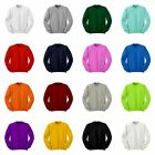 Simple Cotton Crewneck Sweatshirt Jumper Tee Tops All Colour.XS / S / M / L / XL