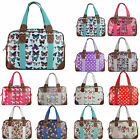 Polka Dots Owl Butterfly Oilcloth Large Overnight Travel Maternity Handbag Tote