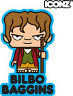 ICONZ CARTOON TEE SHIRT THE HOBBIT BILBO BAGGINS TOLKIEN THE LORD OF THE RINGS