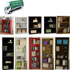 Bookcase 3 - 5 Shelf Bookshelf Adjustable Furniture Wood Storage Shelving Book
