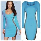 Womens ScoopNeck Sexy Lace Casual Cocktail Party Bodycon Mini Dresses Size810246