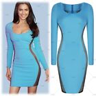 Womens Long Sleeve Mini Bodycon Clubwear Short Cocktail Party Dresses Size681024