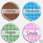 Personalized Custom Plaid Badge Reel Retractable ID Name Holder For Nurse
